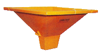 Camlever Rectangle Center discharge Hopper