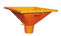 Camlever Round Center discharge Hopper