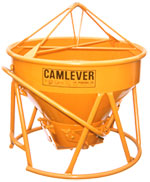 Camlever Low Boy concrete bucket - concrete placement bucket