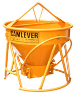 Camlever Lite 'N' Tuff concrete bucket - concrete placement bucket