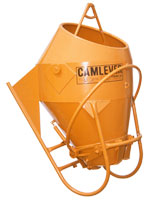 Camlever Round Laydown concrete bucket - concrete placement bucket