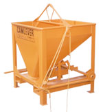Camlever Square Beam concrete bucket - concrete placement bucket